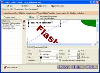 Screenshot von Flash-Creator 1.0 - Videos für die Website.